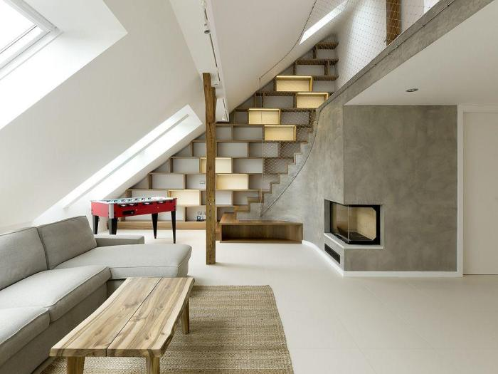 Rounded loft, by A1 architects 01