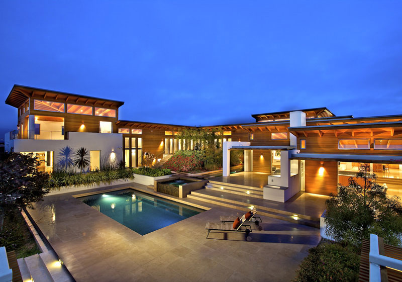 House by  Safdie Rabines Architects In Rancho Santa Fe.