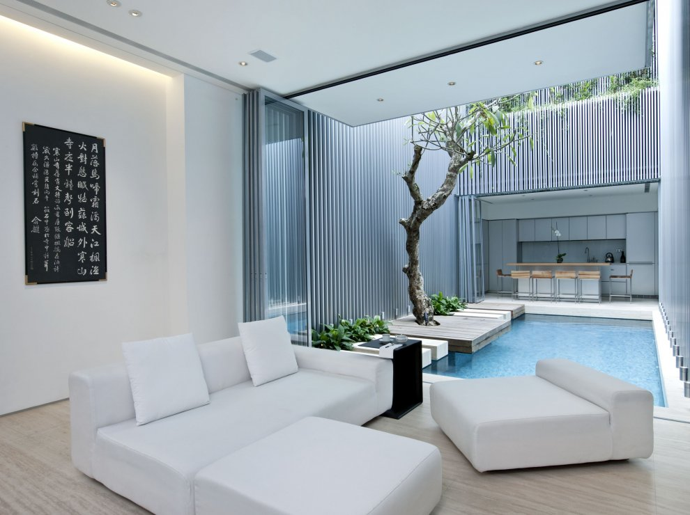 home with shared pool for the kitchen and living room