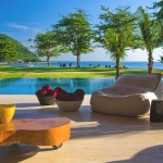 House, Pool, Garden And Sea, Wonderful Home Design with Natural Beauty in South-Coast, Brazil.