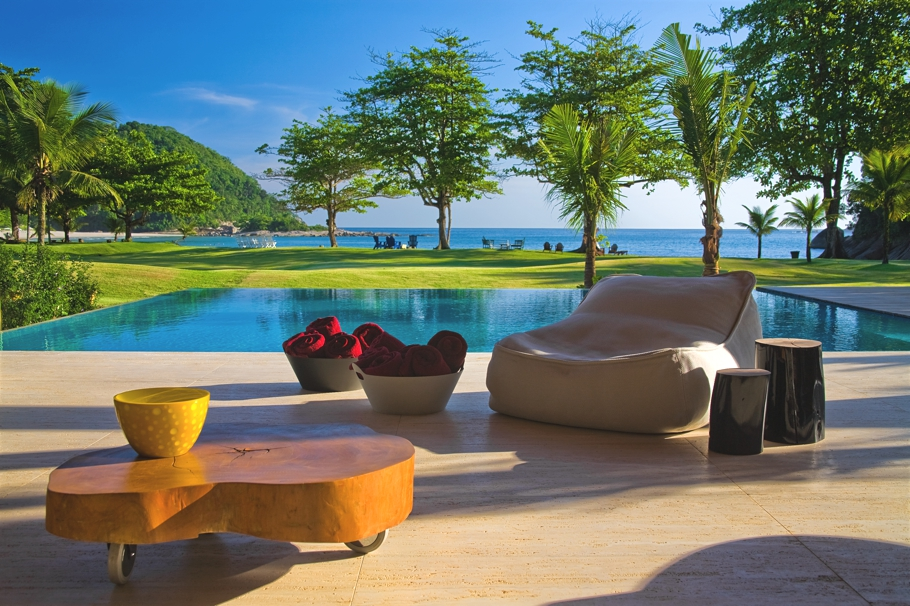 House, Pool, Garden And Sea, Wonderful Home Design With Natural Beauty In  South Coast, Brazil.