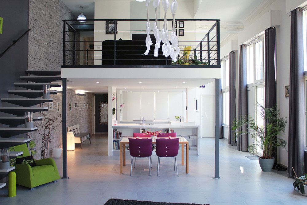 Contemporary Loft Apartment In An Old Chateau In France 03