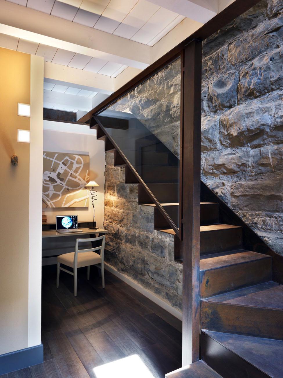 Gombithotel contemporary design in medieval city in - Escaleras de obra interiores ...