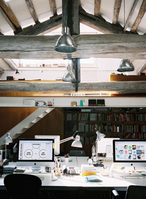 Attic Office Design