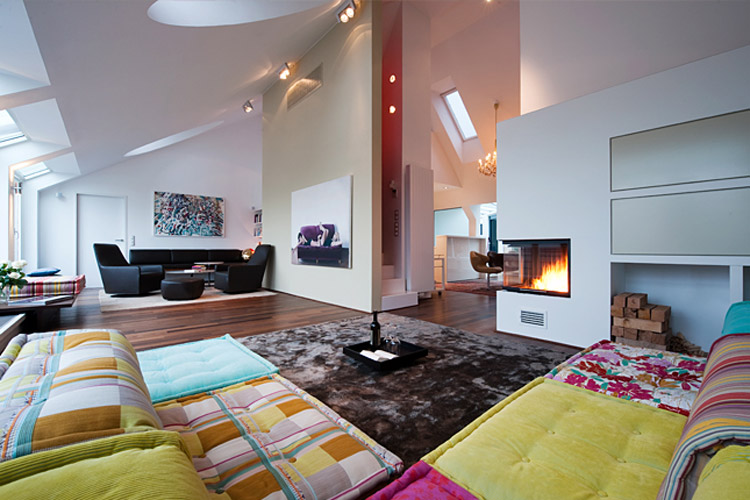 Dachwohnung interieur penthouse