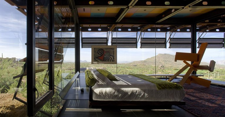 Panoramic Bedroom In Relic Rock House