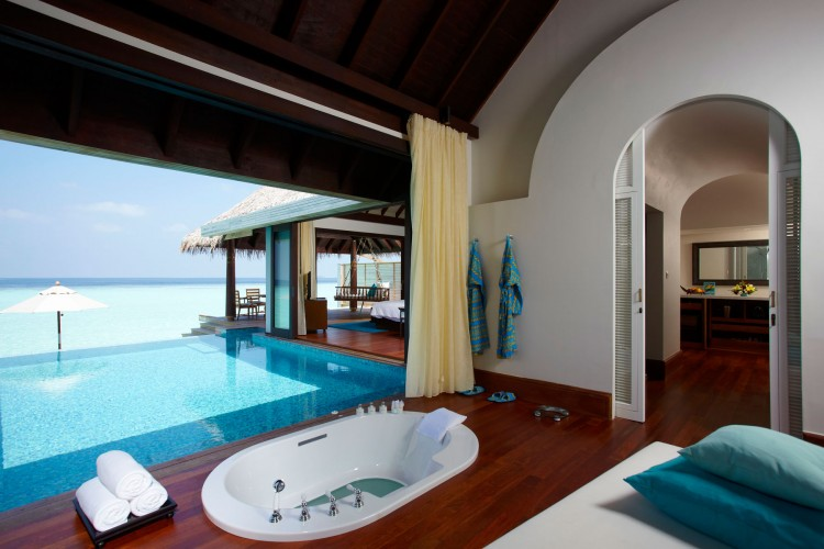 Bathroom with private pool