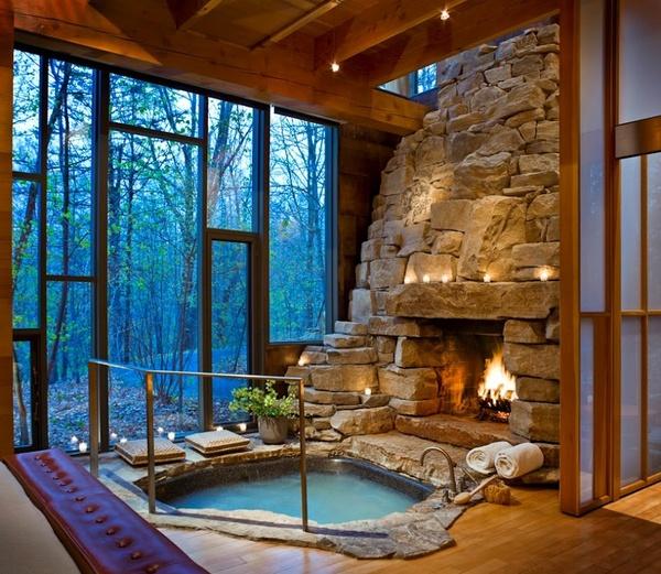 Indoor Fireplace Pool Myhouseidea