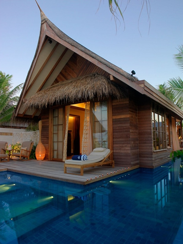 Outdoor and private pool in Jumeirah Vittaveli Resort in Maldives
