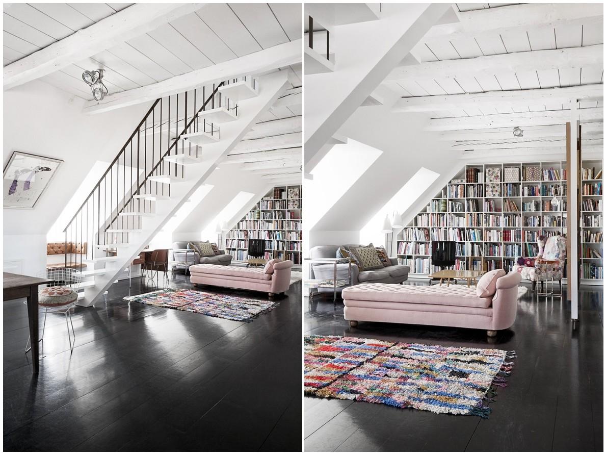 Loft apartment in Copenhagen.
