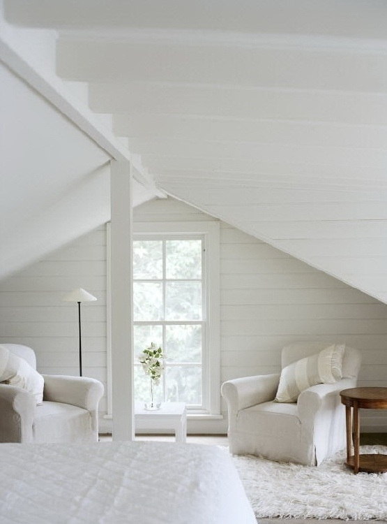 white room attic ideas - total white attic bedroom MyHouseIdea