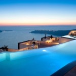 Infinity Pool In Grace Santorini Hotel by Divercity and mplusm Architects.