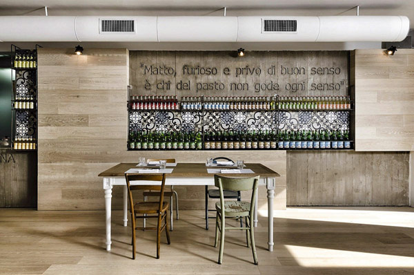 Kook restaurant pizzeria design in rome myhouseidea