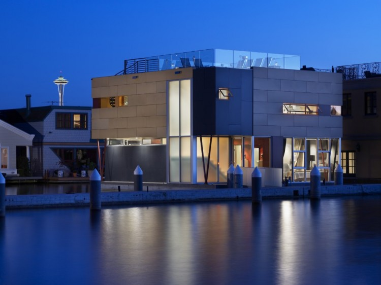 Lake Union Floating Home by Vandeventer + Carlander Architects 02