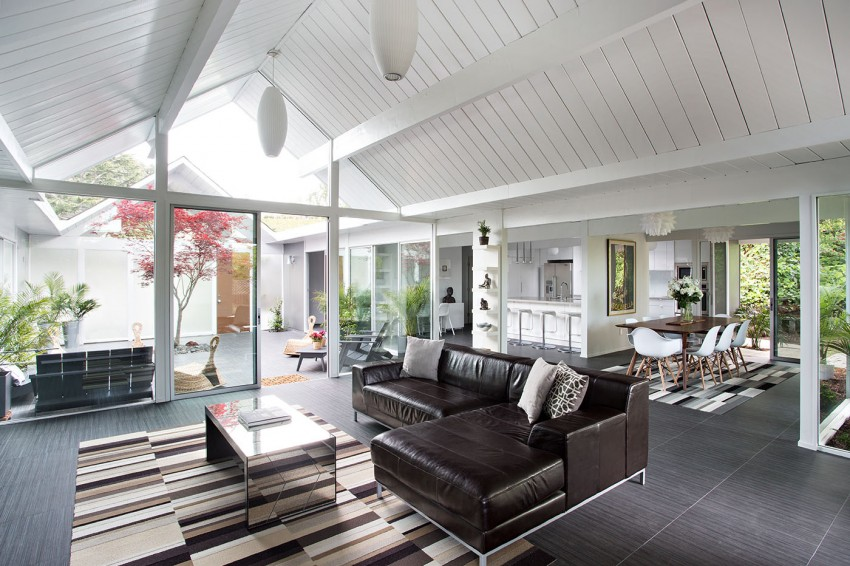 Double Gable Eichler Remodel by Klopf Architecture 05