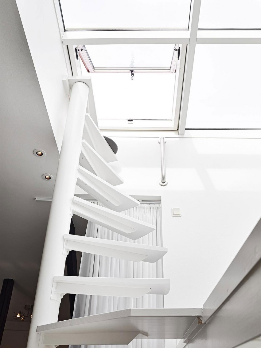 Scandinavian loft with unique floor plan 07