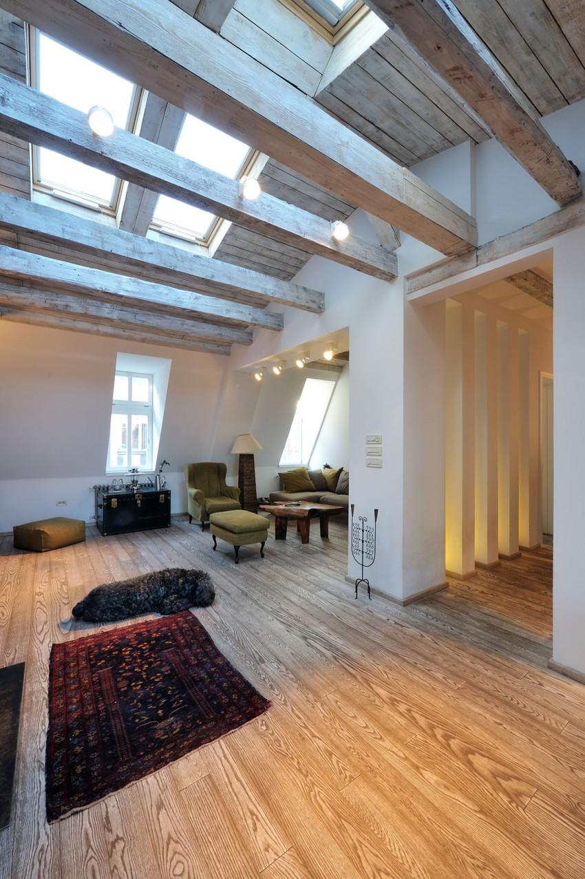 Restored Penthouse in Belgrade by PUJO.RS 02