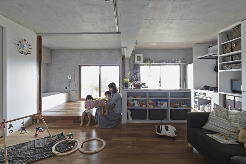 Bath Kitchen House by Takeshi Shikauchi 07