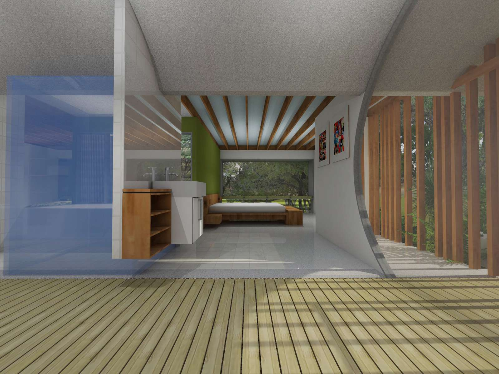 Valentine House by Bleuscape Design & Architecture Services 14