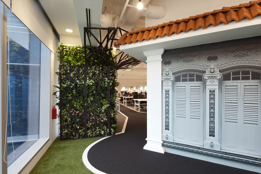 Booking.com's Singapore office by ONG&ONG group 12