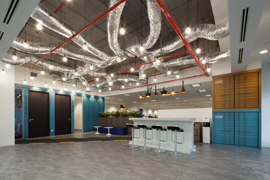 Booking.com's Singapore office by ONG&ONG group 15