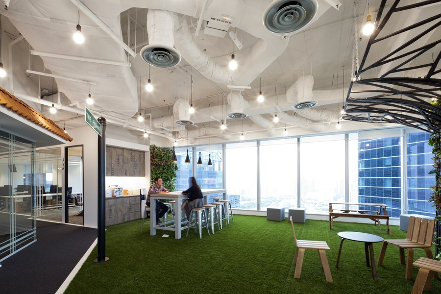 Booking.com's Singapore office by ONG&ONG group 16