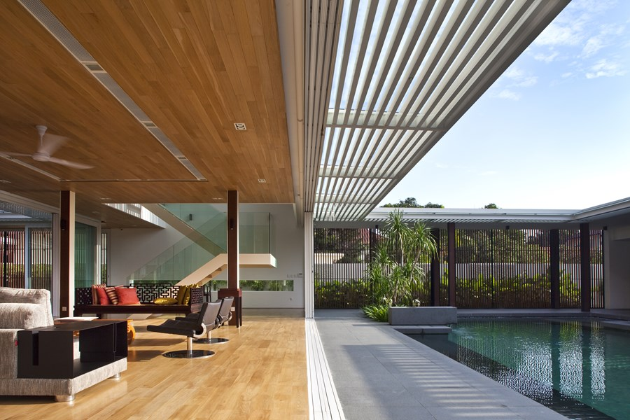 Enclosed open house by wallflower architecture design 02 myhouseidea - Wall flower design ...