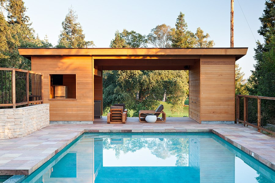 Pool House by Klopf Architecture 01