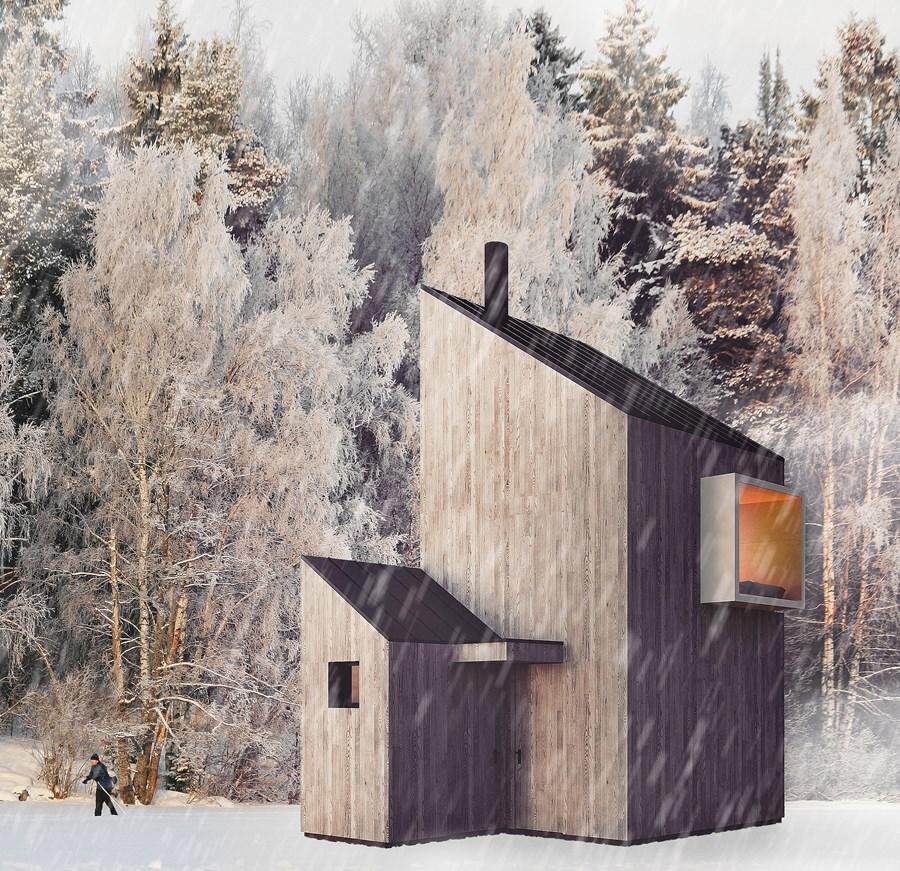 Ski Hut by Fo4a architecture 02