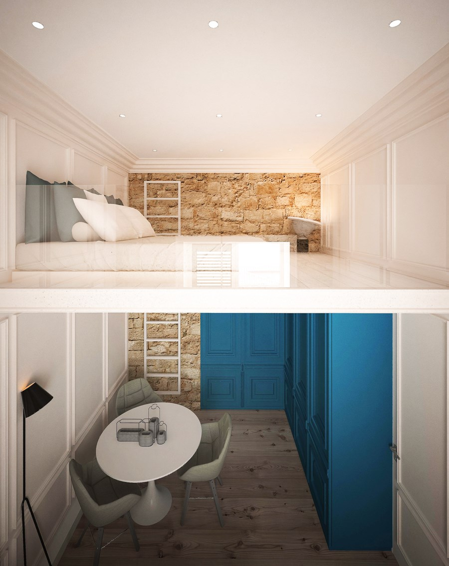 Two studio apartments by Fo4a architecture 09