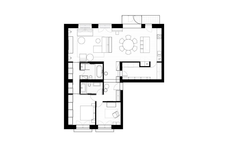 Apartment in Šaltinių Street by DO ARCHITECTS 14