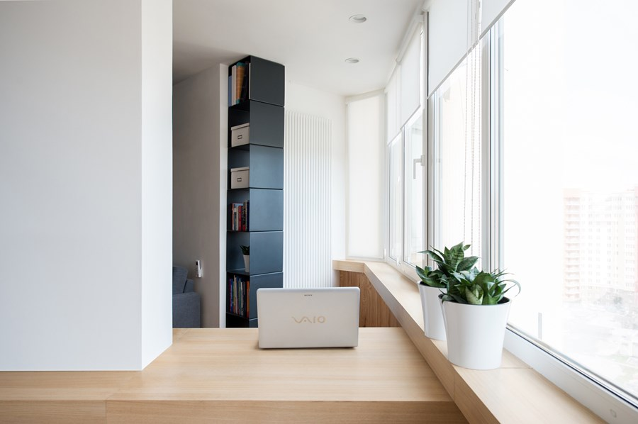 Apartment with a map by Lugerin Architects 06