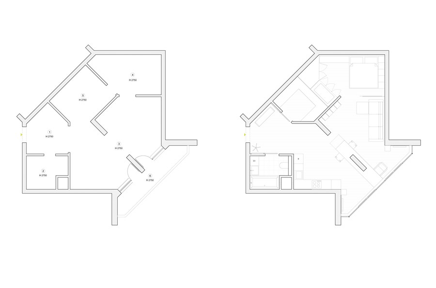 Apartment with a map by Lugerin Architects 11