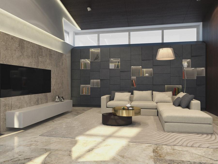 Contemporary private villa interior by Shamsudin Kerimov 01