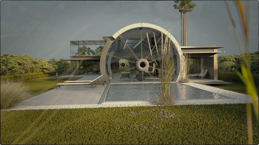 Concrete Tube House by Razvan Barsan + Partners 02