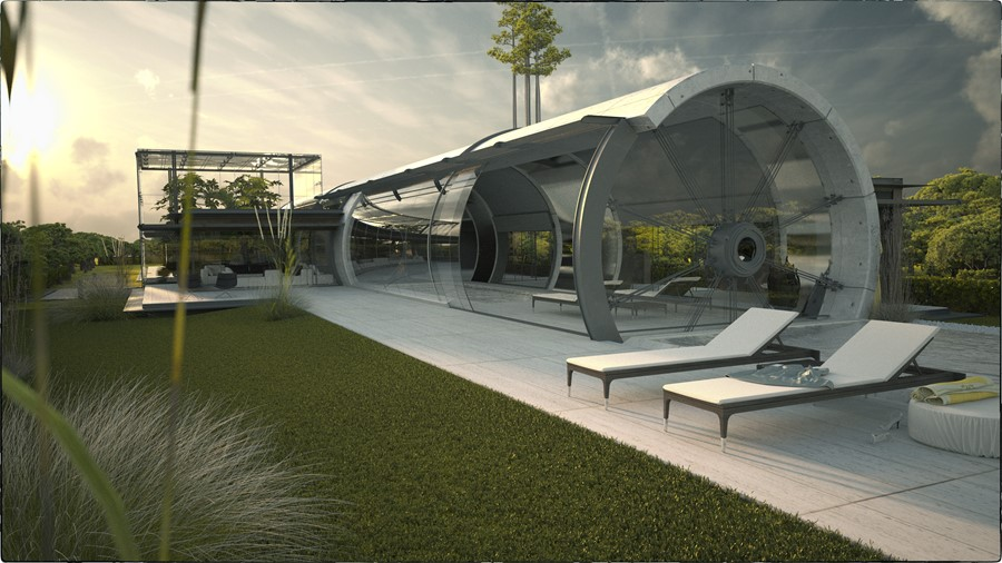 Concrete Tube House by Razvan Barsan + Partners 03