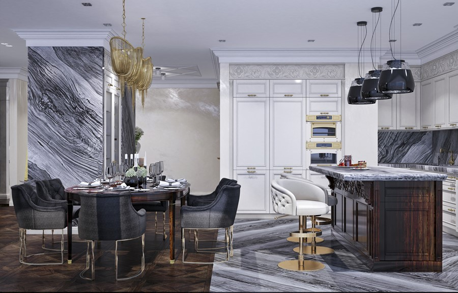 Luxury design in the neoclassical style by Building Evolution 04