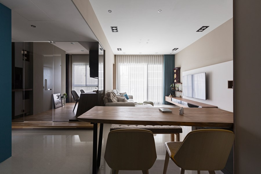 Japanese living in Taiwan by HOZO interior design 01