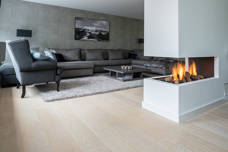 Stylish White floor for residential project by Dennebos Flooring 01