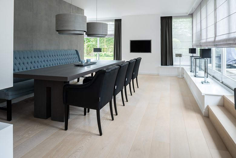 Stylish White floor for residential project by Dennebos Flooring 02