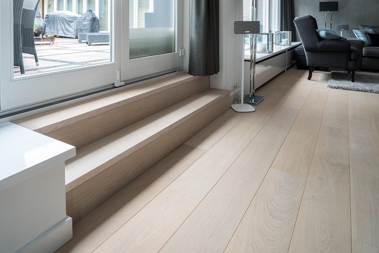 Stylish White floor for residential project by Dennebos Flooring 03