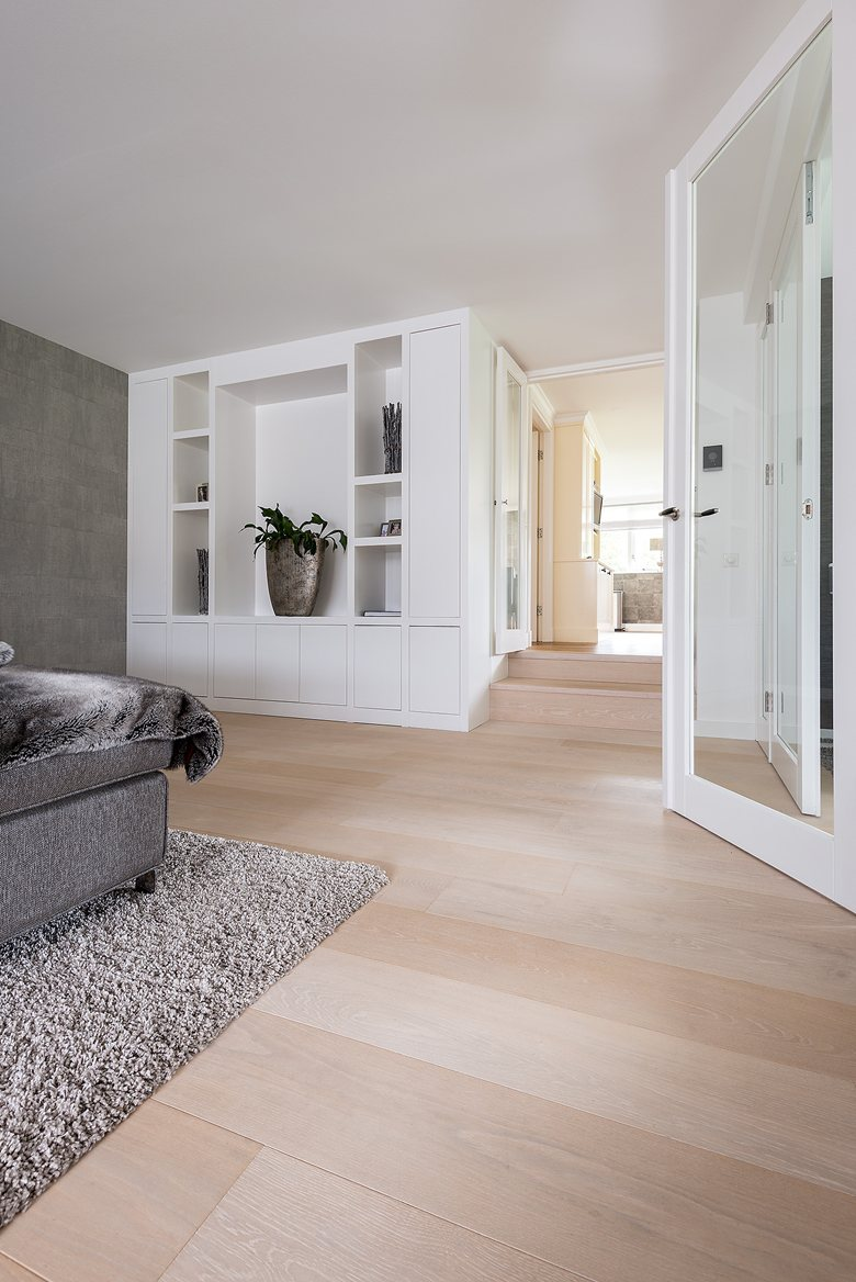 Stylish White floor for residential project by Dennebos Flooring 05