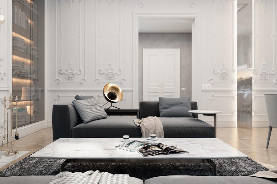 Exquisite flat in paris by diff studio 04 myhouseidea for Flat hotel paris