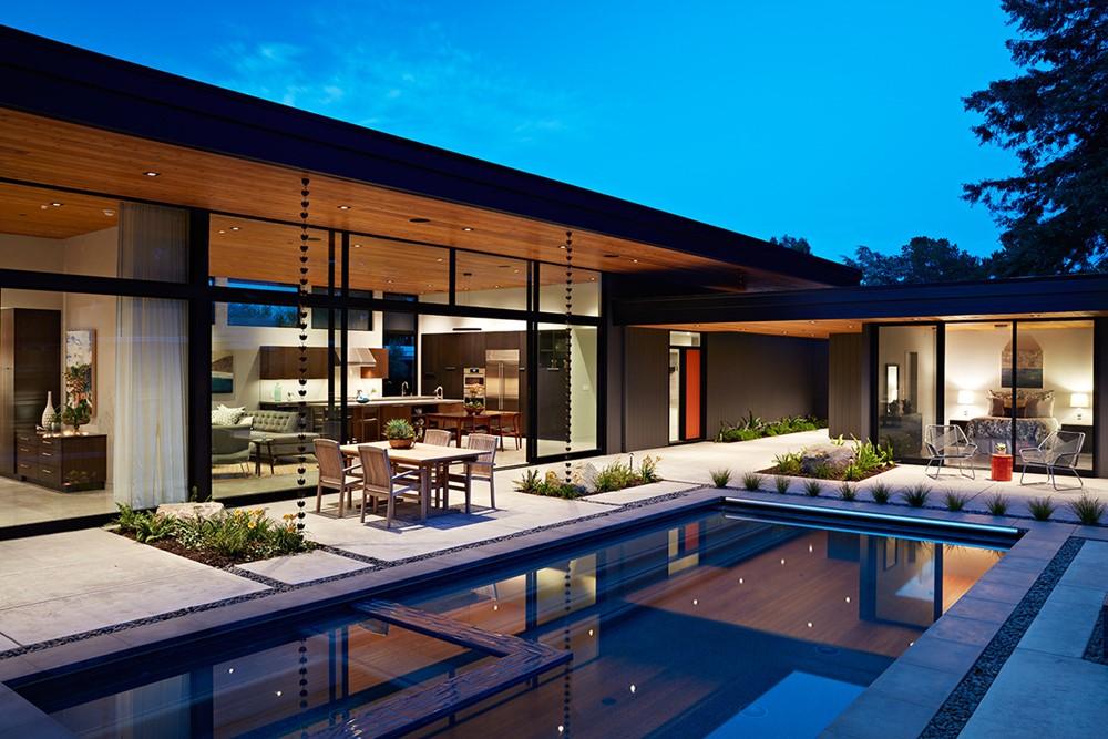 Glass Wall House By Klopf Architecture Myhouseidea