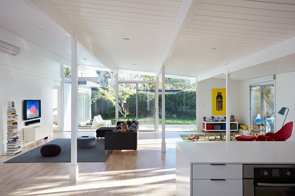 Mountain View Eichler Addition Remodel by Klopf Architecture